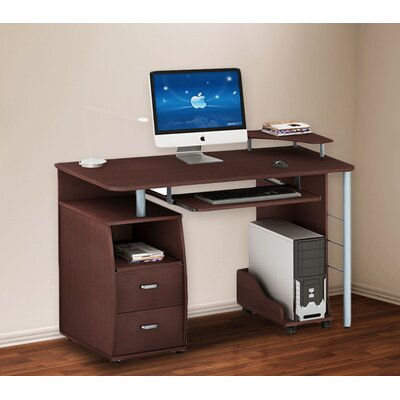 merax computer desk with 2 drawers keyboard tray printer platform and cpu storage reviews. Black Bedroom Furniture Sets. Home Design Ideas