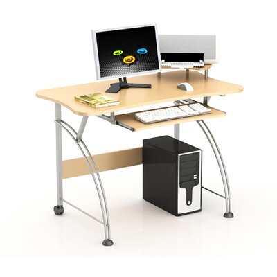 Laptop Computer Desk with Compact Design in Maple by Merax