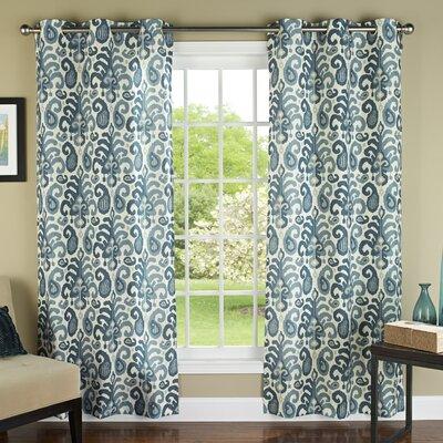Ikat Plume Grommet Curtain Panel (Set of 2) Product Photo