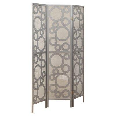 "Monarch Specialties Inc. 71"" x 54"" Frame Bubble Design 3 Panel Room Divider"