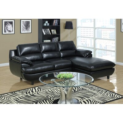 Right Hand Facing Sectional by Monarch Specialties Inc.