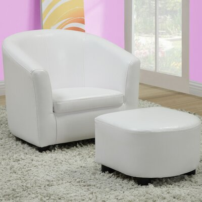 Monarch Specialties Inc. Youth Chair & Ottoman Set