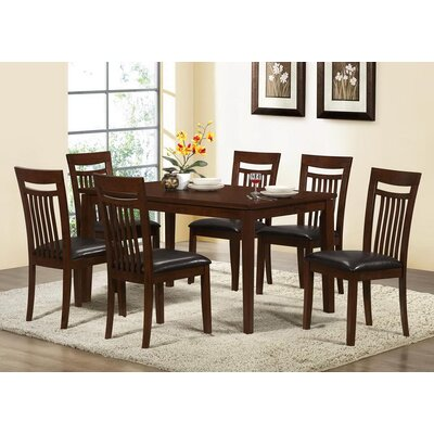 7 Piece Dining Set by Monarch Specialties Inc.