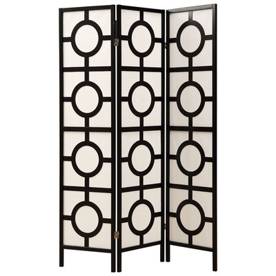 "Monarch Specialties Inc. 71"" x 52"" Frame 3 Panel Room Divider"