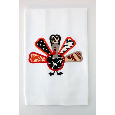 Samantha Grace Designs Egyptian Cotton Huck Holiday Applique Turkey Hand Towel