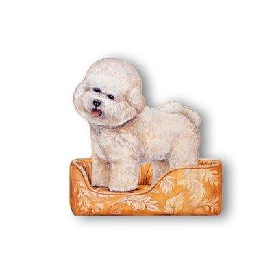 Stupell Industries Bichon Frisse Wooden Dog Doorstop