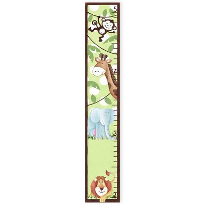 The Kids Room Jungle Buddies Growth Chart by Stupell Industries