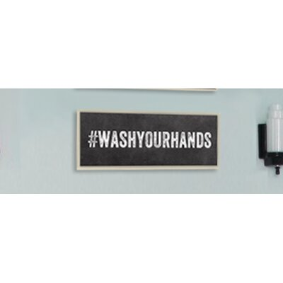 Stupell industries wash your hands hashtag bathroom wall for Bathroom decor hashtags