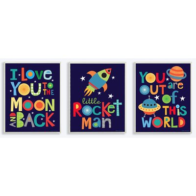 3 Piece I Love You to the Moon and Back Wall Plaque Set by Stupell ...