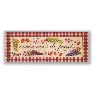stupell industries oversized conserves de fruits graphic art plaque reviews wayfair. Black Bedroom Furniture Sets. Home Design Ideas