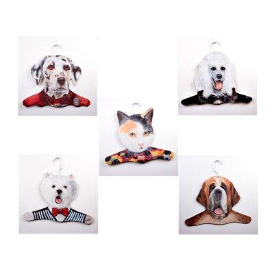 Stupell Industries Dalmation/Poodle/Calico Cat/Westie/St. Bernard Animal Hanger (Set of 5)