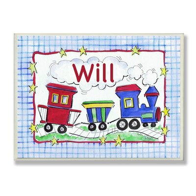 Kids Room Personalization Trains Wall Plaques by Stupell Industries