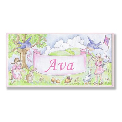 Kids Room Personalization Birds Wall Plaques by Stupell Industries