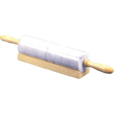 Creative Home White Marble Rolling Pin with Cradle