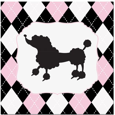 Princess Poodle Art Print by Secretly Designed