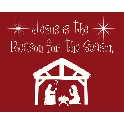 Jesus is the Reason Art Print by Secretly Designed