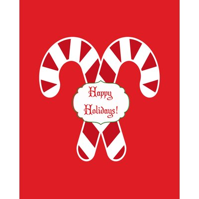 Candy Cane Holidays Art Print by Secretly Designed