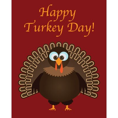 Happy Turkey Day Art Print by Secretly Designed