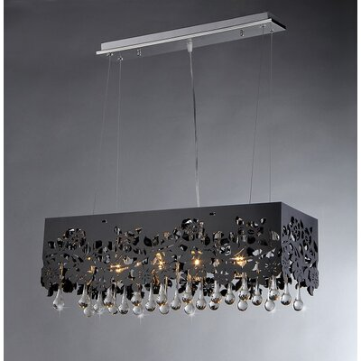 Apollon 6 Light Crystal Chandelier Product Photo