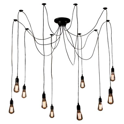 Cora 10 Light Cluster Chandelier Product Photo