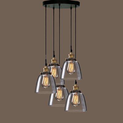 Euna Edison 5 Light Kitchen Island Pendant Product Photo