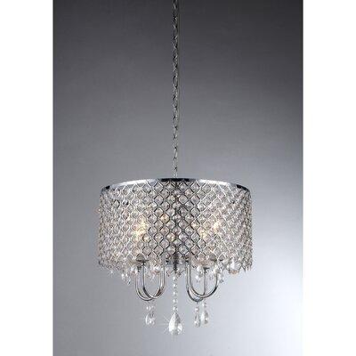 Warehouse of Tiffany 4 Light Crystal Chandelier