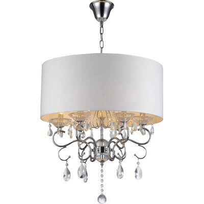 Warehouse of Tiffany 6 Light Crystal Chandelier