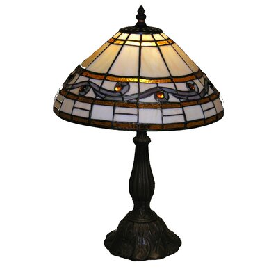 "Warehouse of Tiffany Wave 17"" H Table Lamp with Bowl Shade"