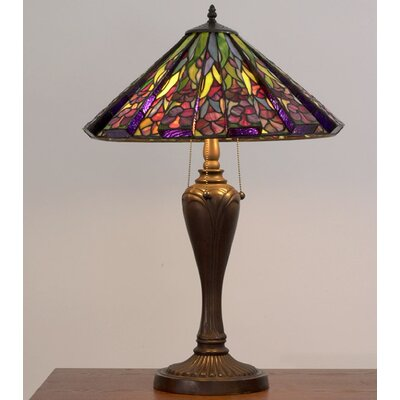 """Warehouse of Tiffany Floral 28"""" H Table Lamp with Empire Shade"""