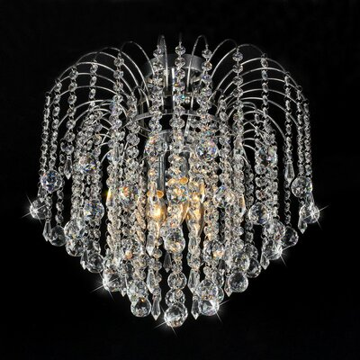 Candace 3 Light Crystal Flush Mount Product Photo
