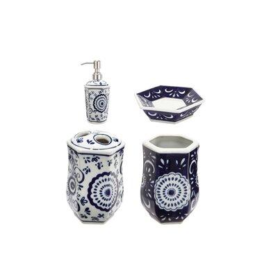 4 Piece Ceramic Bathroom Accessories Set by A&B Home Group, Inc