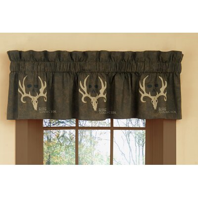 "Bone Collector Rod Pocket Tailored 88"" Curtain Valance"