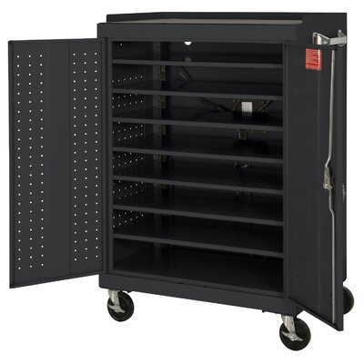 Sandusky Cabinets 16-Compartment Laptop Storage Cart