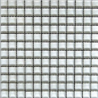 "Epoch Architectural Surfaces Alpinez 1"" x 1"" Glass Mosaic Tile in White"
