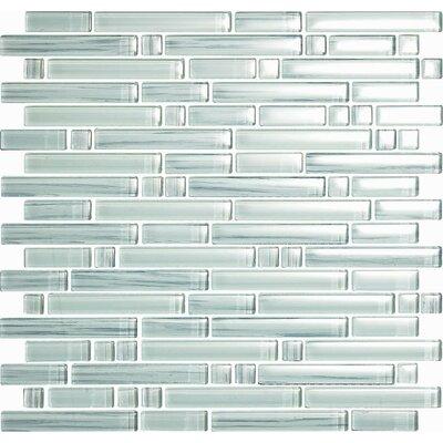 Brushstrokes Bianco Random Sized Glass Mosaic Tile in White by Epoch