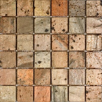 """Epoch Architectural Surfaces 2"""" x 2"""" Slate Mosaic Tile in Copper"""
