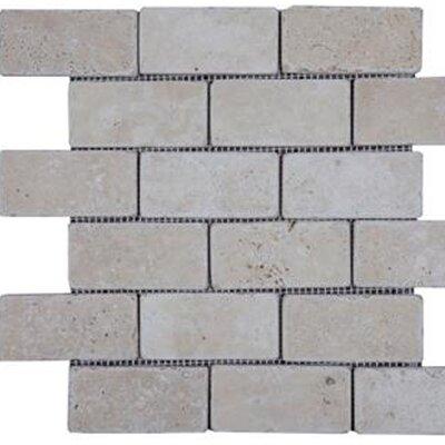 Epoch Architectural Surfaces 2'' x 4'' Travertine Subway Tile in Beige