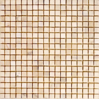 Epoch Architectural Surfaces 0.625'' x 0.625'' Marble Mosaic Tile in White Carrara