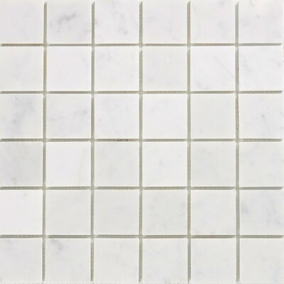 "Epoch Architectural Surfaces 2"" x 2"" Marble Mosaic Tile in White"