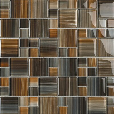 Contempo Jacobs Random Sized Glass Mosaic Tile in Multi by Epoch