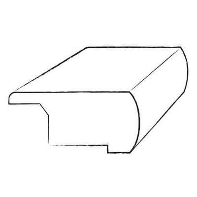 "Moldings Online 1"" x 3.25"" x 78"" Brazilian Cherry Overlap Stair Nose"