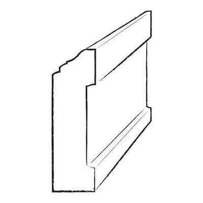 "Moldings Online 0.44"" x 3.5"" x 96"" Birch Red Wall Base"
