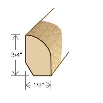 "Moldings Online 0.5"" x 0.75"" x 96"" White Oak Base/Shoe Molding"