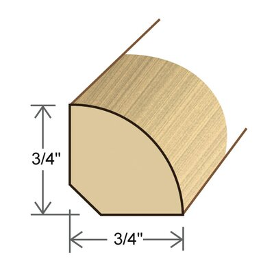 "Moldings Online 0.75"" x 0.75"" x 96"" Maple Quarter Round"