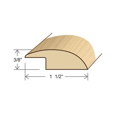 "Moldings Online 0.34"" x 1.5"" x 78"" White Oak Overlap Reducer"