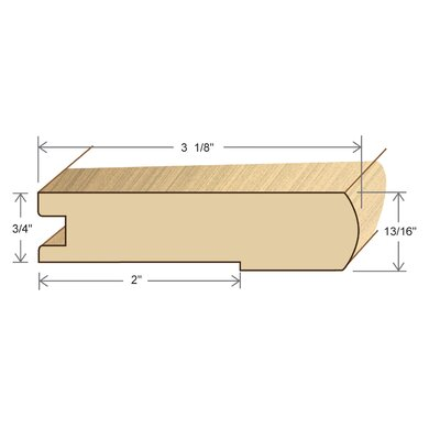 "Moldings Online 0.81"" x 3.13"" x 78"" Tauari Stair Nose"