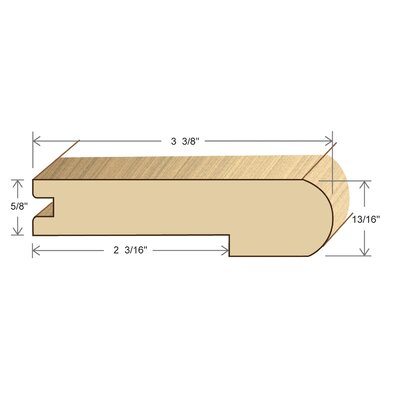 """Moldings Online 0.81"""" x 3.38"""" x 72"""" Bamboo Stair Nose"""