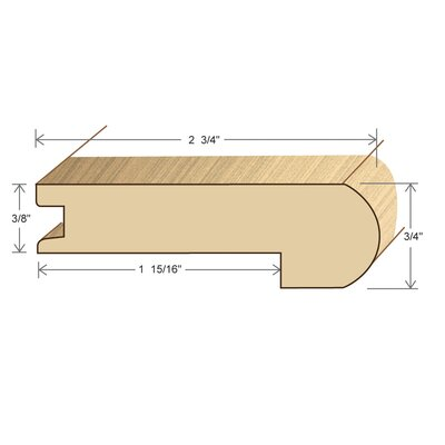 "Moldings Online 0.75"" x 3.5"" x 78"" Acacia Stair Nose"