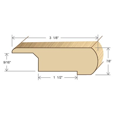 "Moldings Online 0.88"" x 3.13"" x 72"" Bamboo Stair Nose"