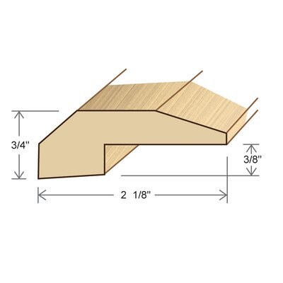 "Moldings Online 0.75"" x 2.13"" x 78"" Walnut Threshold"